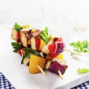 Grilled Vegetable & Tofu Kebob Platter