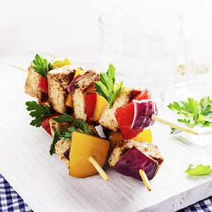 Grilled Vegetable & Tofu Kebobs (Vegan)