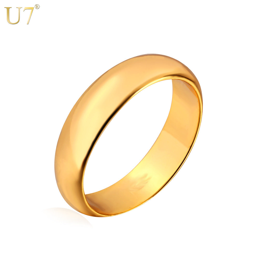 Gold ColorWedding Bands Rings for