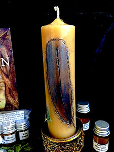 The Morrighan Meditation - Beeswax Column