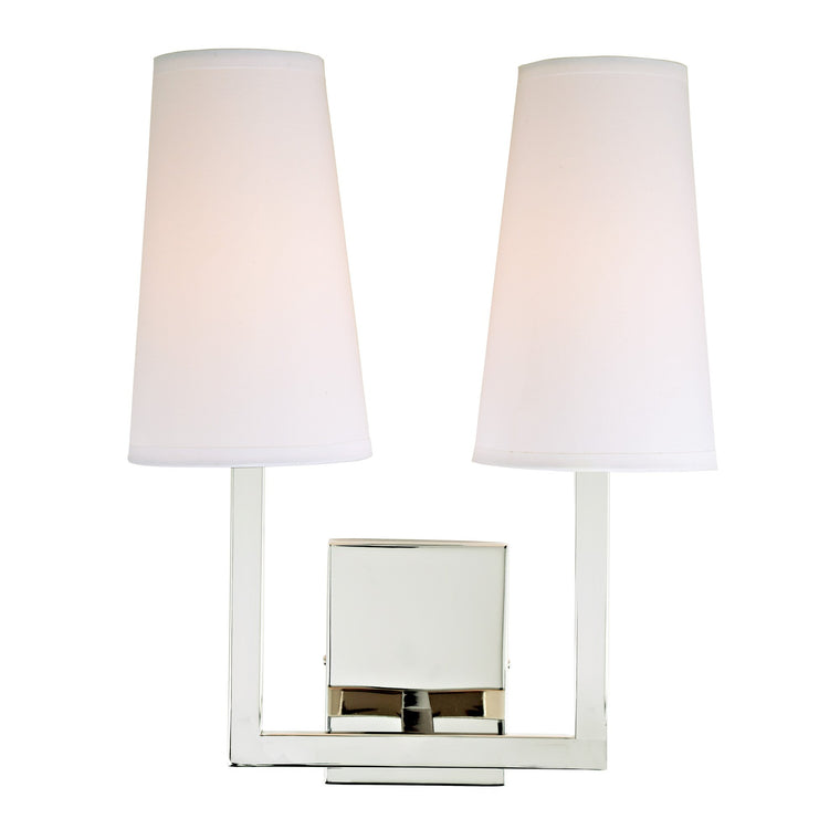 Sullivan two light wall sconce 432-15 by JVI Designs Polished Nickel