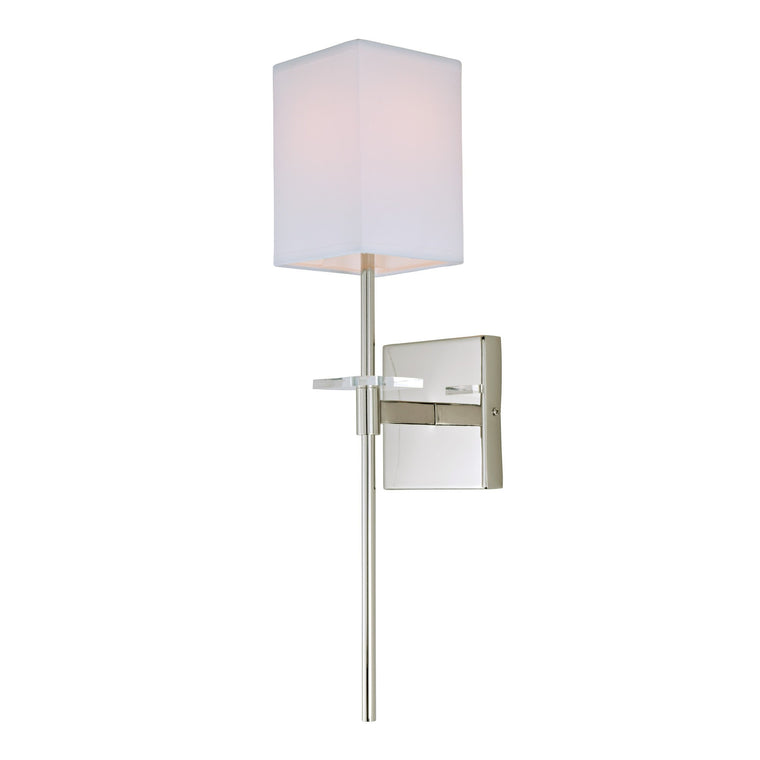 Marcus one light wall sconce by JVI Designs 441 Polished Chrome