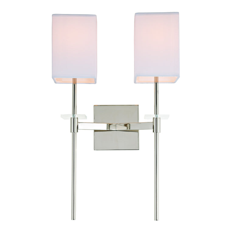 Marcus two light wall scone by JVI Designs 442-15 Polished Chrome