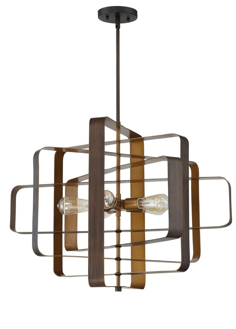 Linked 5 Light Pendant w/ Rods in Aged Bronze Brushed by Craftmade 48595-ABZ