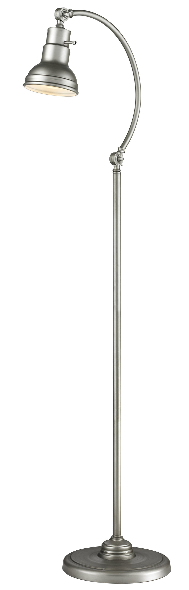 Ramsay Brushed Silver Floor Lamp by Z-Lite FL119-BS