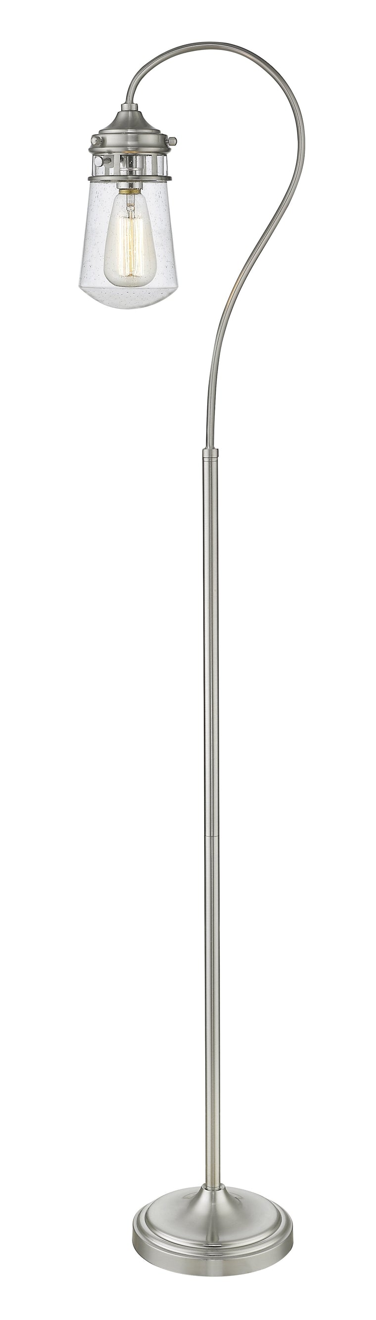 Celeste Brushed Nickel With Clear Seedy Shade Floor Lamp by Z-Lite FL120-BN