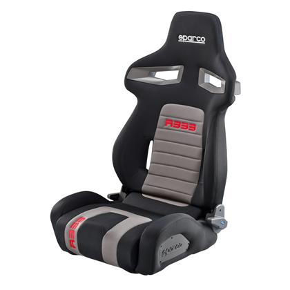 Sparco R333 Reclinable Seat - Tubular - Black,Red - Fabriq-00965NRGRS - Rzcrewgarage