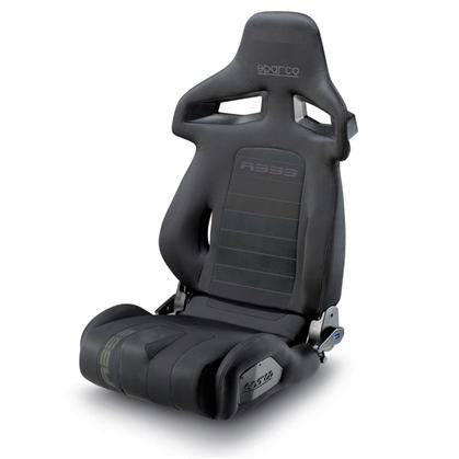Sparco R333 Reclinable Seat - Tubular - Black - Fabriq-00965NR - Rzcrewgarage