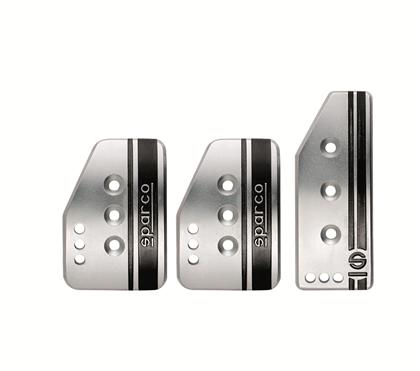 Sparco - Settanta Short Silver Pedal Kit - MT  - RZCrewEurope