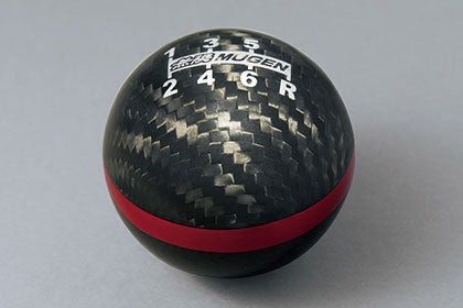 Mugen 6sp MT Carbon Shift Knob with Red Band - Rzcrewgarage
