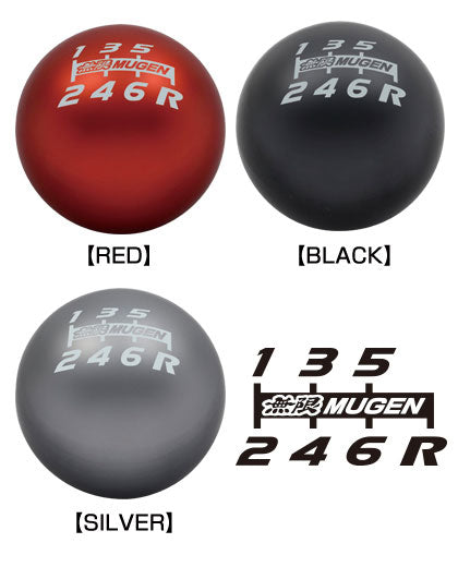 Mugen Shift Knob 6MT (Black) - Rzcrewgarage