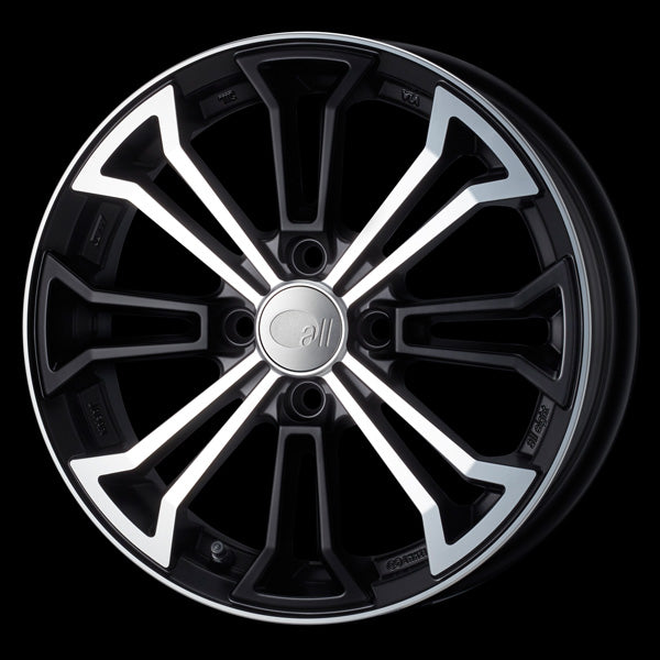 Enkei Japan all eight - 18x8J - 5x114.3 - ET: 45 (Matte Machined Black) - JDM-308-880-6545MMB
