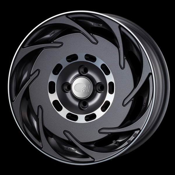 Enkei Japan all fifteen - 16x6.5J - 4x100 - ET: 38 (Matte Gunmetalic) - JDM-315-665-4938MG