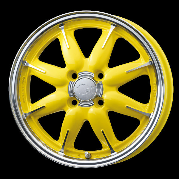 Enkei Japan all one - 15x5J - 4x100 - ET: 45 (Machining Lemon Yellow) - JDM-301-550-4945MCLY