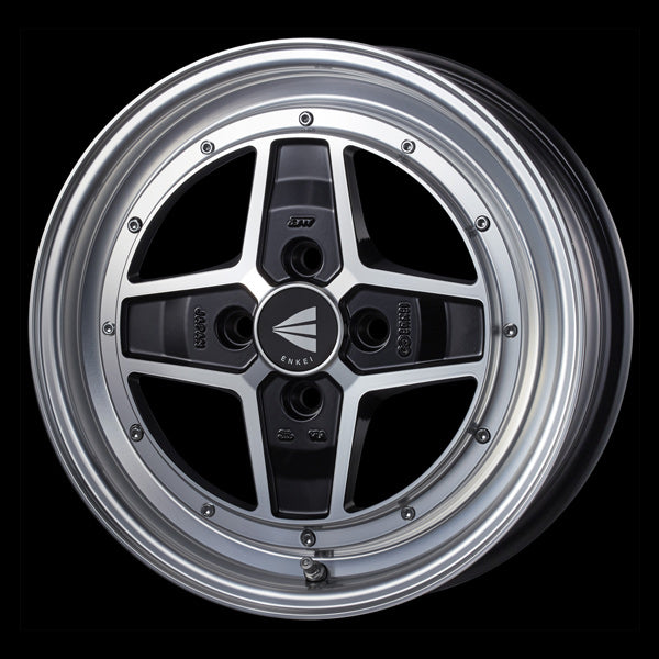 Enkei Japan Apache II - 15x5J - 4x100 - ET: 45 (Machining Black) - JDM-471-550-4945MCBK