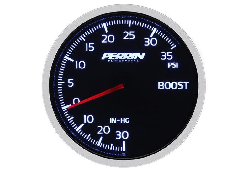Perrin White,Red Boost Gauge - 60mm - 35psi - RZCrewEurope