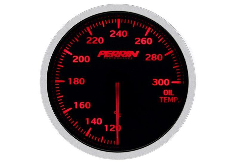 Perrin White,Red Oil Temp Gauge - 60mm - 120-300F - RZCrewEurope