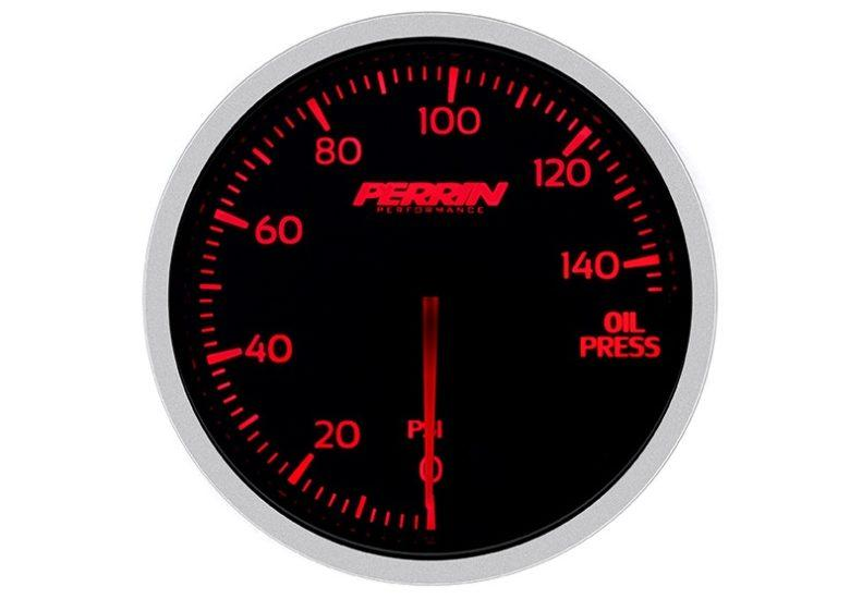 Perrin White,Red Oil Pressure Gauge - 60mm - 140psi - RZCrewEurope