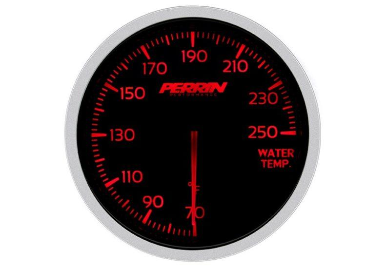 Perrin White,Red Water Temp Gauge - 60mm - 70-250F - RZCrewEurope