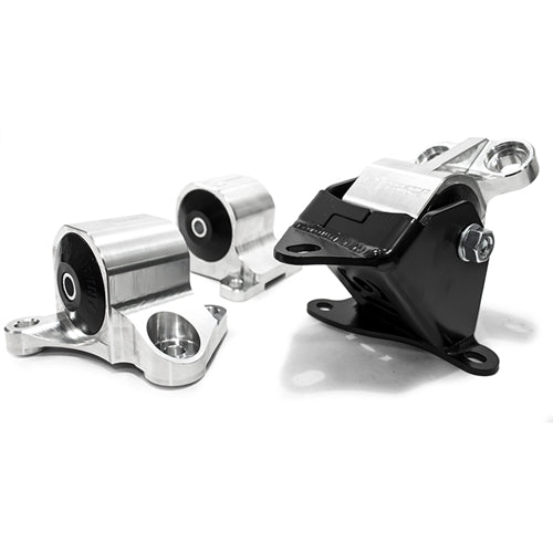 Aluminum Black Anodised (2 Bolts) Engine Mount Kit ( 95A Dk Red) - EK(All) - B10050-95A-BA - RzcrewEurope.com