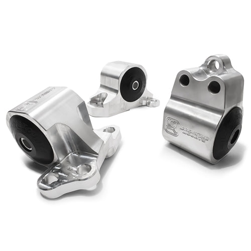 Aluminum Black Anodised (3 Bolts) Engine Mount Kit ( 95A Dk Red) - EG(All) - B10150-95A-BA - RzcrewEurope.com
