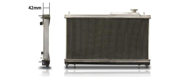 Blitz Type ZS 42 mm Dual core Radiator - Subaru - Legacy Touring Wagon BP5 (A to F) (AT,MT) - 18857 - RZCREWGARAGE
