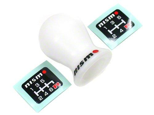 Nismo - S-Tune Duracon White Shift knob - M10×1.25, M12×1.25 (No step) Thread-C2865-1EA04 - Rzcrewgarage