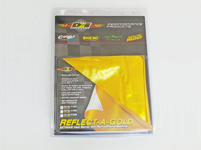 Increase Horse Power and torque with this DEI - Reflect A Gold Heat shield 300 x 300 mm. The Best JDM Parts in Europe are on RzcrewEurope.com!