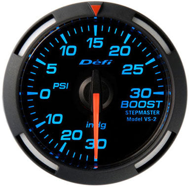 Defi Blue Racer Boost Gauge - 52mm - 30 Psi - RZCrewEurope