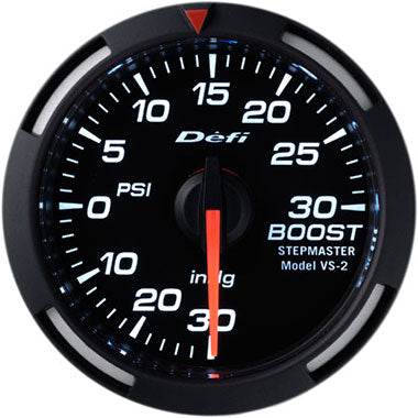 Defi White Racer Boost Gauge - 52mm - 30 Psi - RZCrewEurope