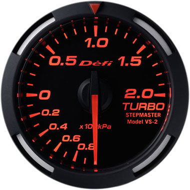 Defi Amber Racer Boost Gauge - 52mm - 2 Bar - RZCrewEurope