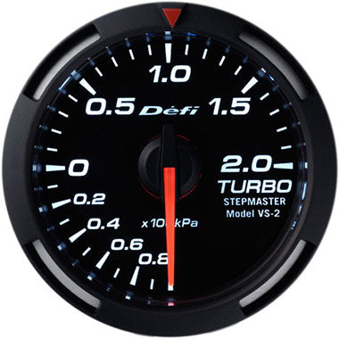 Defi White Racer Boost Gauge - 52mm - 2 Bar - RZCrewEurope