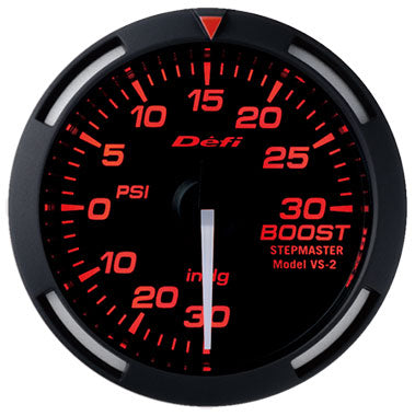 Defi Red Racer Boost Gauge - 52mm - 30 Psi - RZCrewEurope
