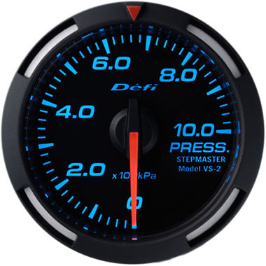 Defi Blue Racer Oil Pressure Gauge - 52mm - 10 Bar - RZCrewEurope