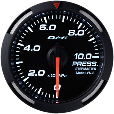 Defi White Racer Oil Pressure Gauge - 52mm - 10 Bar - RZCrewEurope