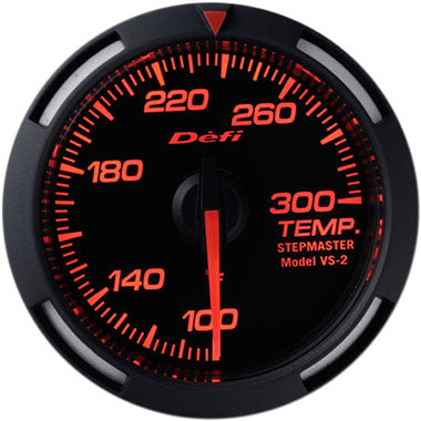 Defi Amber Racer Oil Temperature,Water Temperature Gauge - 52mm - 100-300F - RZCrewEurope
