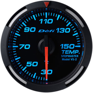 Defi Blue Racer Oil Temperature,Water Temperature Gauge - 52mm - 30-150C - RZCrewEurope