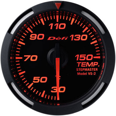 Defi Amber Racer Oil Temperature,Water Temperature Gauge - 52mm - 30-150C - RZCrewEurope