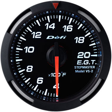 Defi White Racer Exhaust Gas Temperature Gauge - 52mm - 400-2000F - RZCrewEurope