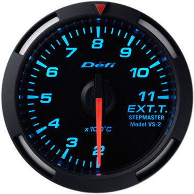 Defi Blue Racer Exhaust Gas Temperature Gauge - 52mm - 200-1,100C - RZCrewEurope