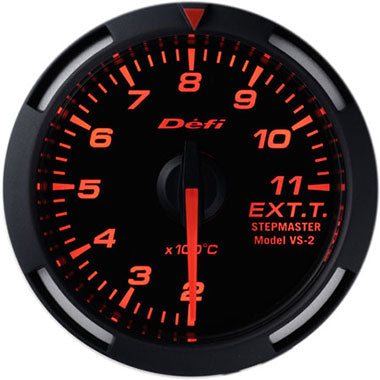Defi Amber Racer Exhaust Gas Temperature Gauge - 52mm - 200-1,100C - RZCrewEurope