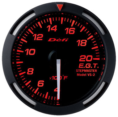 Defi Red Racer Exhaust Gas Temperature Gauge - 52mm - 400-2000 F - RZCrewEurope