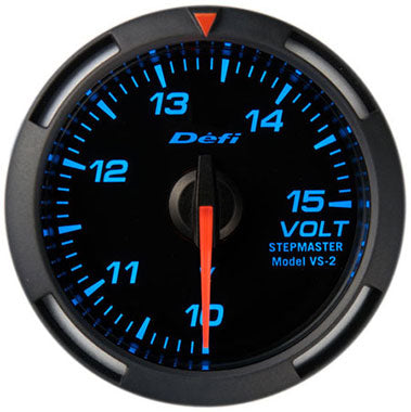 Defi Blue Racer Voltage Gauge - 52mm - 10-15V - RZCrewEurope