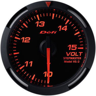 Defi Amber Racer Voltage Gauge - 52mm - 10-15V - RZCrewEurope