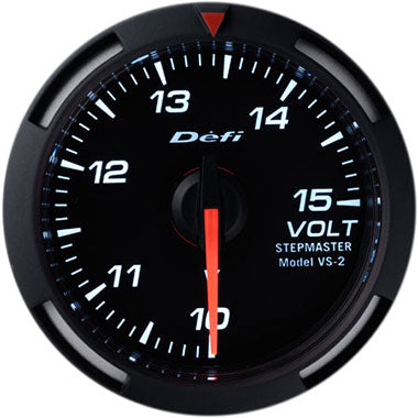 Defi White Racer Voltage Gauge - 52mm - 10-15V - RZCrewEurope