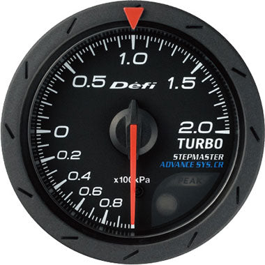 Defi White,Amber Advance CR Boost Gauge - 52mm - 2 Bar - RZCrewEurope
