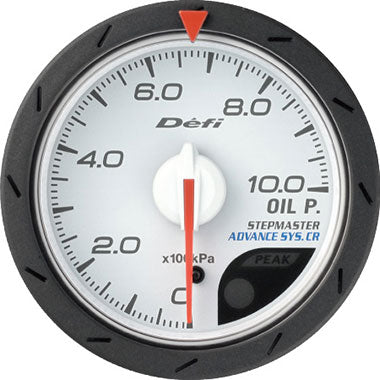 Defi Blue,Amber Advance CR Oil Pressure Gauge - 52mm - 10 Bar - RZCrewEurope