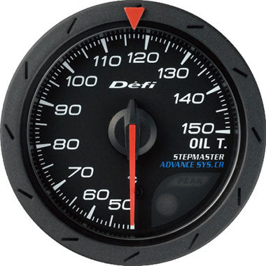 Defi White,Amber Advance CR Oil Temperature Gauge - 52mm - 30-150C - RZCrewEurope