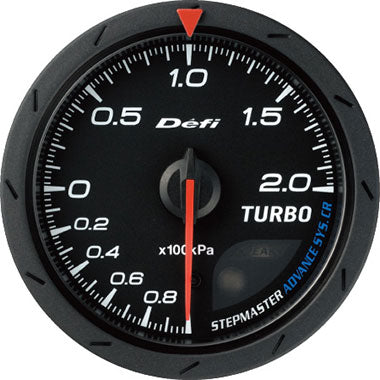 Defi White,Amber Advance CR Boost Gauge - 60mm - 1.2 Bar - RZCrewEurope