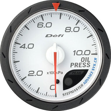 Defi Blue,Amber Advance CR Oil Pressure Gauge - 60mm - 10 Bar - RZCrewEurope